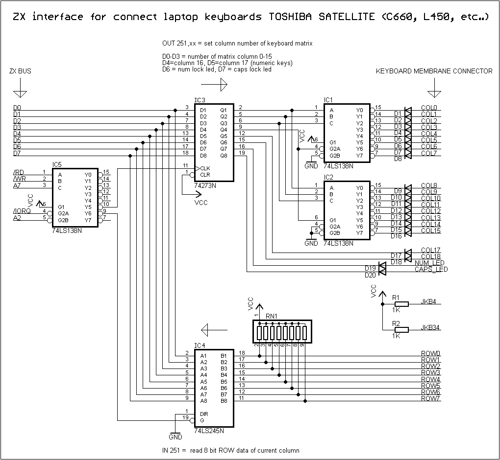 Laptop Keyboard On Zx Computer Wiring Diagram My Idea Of New Case